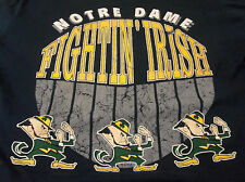 VINTAGE JOSTENS  NOTRE DAME FIGHTING IRISH LOGO ADULT L SHIRT NAVY PRE-OWNED