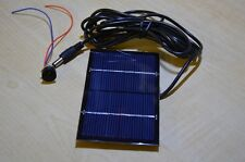 Solar Panel Project kit 115mmx70xmm panel 6V 1W 3m flex with Jack plug + socket