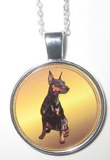 Dobermann-Hund Doberman dog  Halskette Necklace -EM1-NEU!