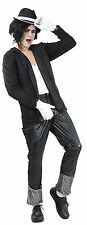 Michael Jackson Jacko 80s 90s Mens Fancy Dress Pop Star Costume Outfit Inc Hat