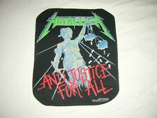 METALLICA – rare shaped 1988 AND JUSTICE… Back Patch! exodus