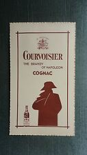 MENU ANCIEN COURVOISIER BRANDY OF NAPOLEON COGNAC