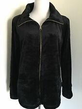 NWT Calvin Klein Performance Women's Black  Fleece Zip Up Jacket Sz L $79
