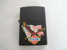New Flying Eagle Black Lighter USA Flag With America Motorcycles Logo