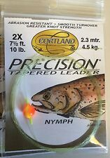6 Ct. Cortland Precision Tapered Trout 71/2' Nymph Style Indicator Leader 2X