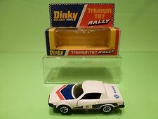DINKY TOYS 207 TRIUMPH TR7 RALLY No 8 - WHITE - GOOD CONDITION IN BOX