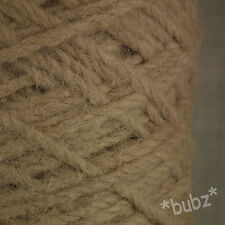 SUPER CHUNKY BERBER RUG WOOL - LARGE 500g CONE - PEBBLE BROWN TAUPE CARPET YARN