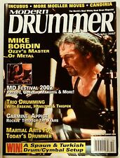 Modern Drummer Magazine Oct 2002 Mike Bordin Ozzy's Master of Metal