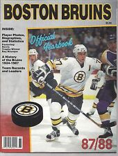 87-88 Boston Bruins Yearbook W/Ray Bourque,The history of the Bruins 1924-1987