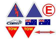 CHEAP TOW BATTERY SAFETY CAMS APPROVED RACE DRIFT RALLY CAR DECAL STICKER