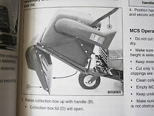JOHN DEERE ZTRAK FRONT MOWERS MATERIAL GRASS COLLECTION SYSTEM OPERATORS MANUAL