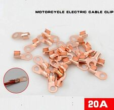 20 PCS Copper Battery Cable Connector Terminal Lugs 6mm/23mm Scooter Motorcycle