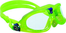 AQUA SPHERE CLEAR - LIME SEAL KID 2 UNISEX SWIMMING MASK / GOGGLE BRAND NEW