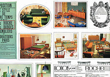 PUBLICITE ADVERTISING  1964  ROCHE & BOBOIS  meubles  (2 pages)