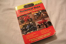 CLYMER TECHNICAL DATA SERVICE & SPECIFICATION MANUAL DIRT BIKES & ATVS 1989-2002