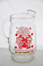 Large Vintage Anchor Hocking Strawberry Shortcake Glass Pitcher