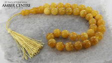 GENUINE BUTTERSCOTCH COLOUR BALTIC AMBER WORRY BEADS - AW0065 RRP£899