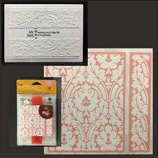 Cuttlebug Embossing folders -  BROCADE folder set floral Anna Griffin Wedding