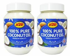 2 x KTC 100% Pure Coconut Oil Cooking Hair & Skin Care Multipurpose 500ml