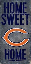 """Chicago Bears Home Sweet Home Wood Sign 12"""" x 6"""" [NEW] NFL Man Cave Den Wall"""