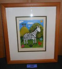 SOPHIE HARDING Zara Zebra FRAMED Art Print