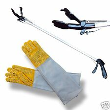 "ARD 60"" Pro SNAKE TONGS Reptile Grabber Rattle Snake Catcher with Free Gloves"