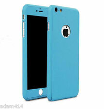 360° Full Protective Case Ultra Thin + Tempered Glass Cover For iPhone