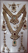 Indian Fashion Jewelry Asian Bollywood Set FULL Heavy Bridal Dulhan CZ Sets