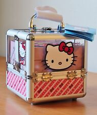 Hello Kitty Train Case Complete Cosmetic Makeup Nail Kit -Expanding Hello Kitty