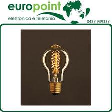 Lampada goccia vintage filamento in carbone E27 gioco vortice dimmerabile