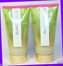 2 Victoria's Secret ISLAND BOUND Hibiscus & Melon Exfoliating Body Wash Scrub
