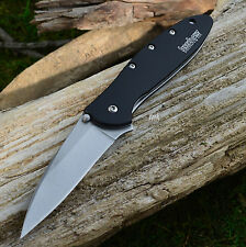 Kershaw Leek Stonewash Plain Edge Assisted Opening Knife 1660SWBLK