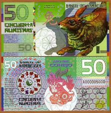 Kamberra, POLYMER, 50 Numismas, China Lunar Year 2011 (2013), UNC   Rabbit