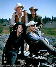 BONANZA BEN ADAM HOSS LITTLE JOE CARTRIGHT PERNELL ROBERTS PHOTO POSTER REPRINT
