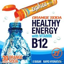 Zipfizz Healthy Energy Drink Mix Orange Soda 30 Tubes