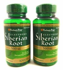 2X Eleuthero Siberian Root 200 Tablets 500 mg Vege