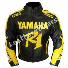 YAMAHA R1 Racing Motorbike Leather Jacket Motorcycle Mens Biker Leather Jacket