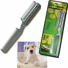 CAT DOG PET PUPPY LONG HAIR GROOMING COMB BRUSH TRIMMER RAZOR CUTTER BLADES CUT
