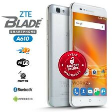 "New Unlocked ZTE Blade A610 Grey 5"" IPS LCD Quad Core 4G Android Mobile Phone"
