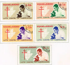 Burundi Medicine Tuberculose Research Map stamps set 1965