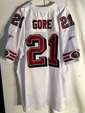 Reebok Authentic Jersey San Francisco 49ers Frank Gore White Throwback sz 56