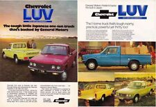 Two 1974 & 1975 CHEVROLET KB20 CHEVY LUV Australian 2p Brochures ISUZU