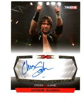 TNA Chris Sabin 2008 Cross The Line GOLD Authentic Autograph Card SN 18 of 50