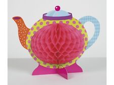 MAD HATTERS TEA PARTY ALICE IN WONDERLAND HONEYCOMB TEAPOT DECORATION 49508