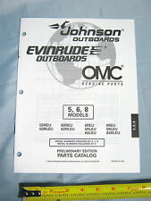 Johnson Evinrude 5HP, 6HP, 8HP Models Outboard Boat Motor Parts Catalog