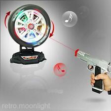 Kinder Elektro Infrarot Pistole Mit Reifenziel Flash Licht Musik Spielzeug Neu