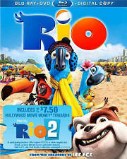 Rio       (Blu-Ray Disc + DVD + Digital HD set, 2014)  Anne Hathaway  Brand NEW