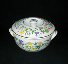 ROYAL WORCESTER Porcelain ENGLAND Arcadia Flowers SMALL COVERED CASSEROLE 1988