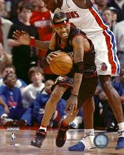 ALLEN IVERSON 8x10 NBA ACTION PHOTO vs Ben Wallace PHILADELPHIA SIXERS Photofile