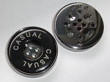 6 Stück große Knöpfe Knopf Mantelknopf schwarz+stahl  35 mm NEUWARE #845#